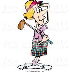 Cartoon Female Golfer Clip Art