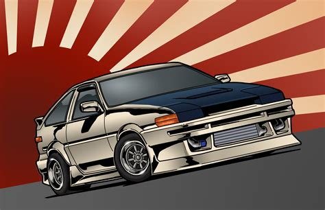 If you are a jdm enthusiast and you would like to display some nice good looking japaneses cars wallpapers on your screens here is the solution. jdm, front, toyota, corolla, japan, toyota, art, ae86 ...