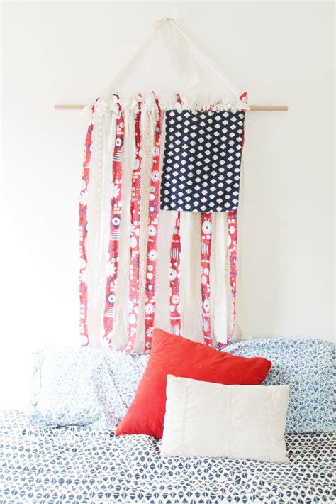 fabric american flag     flag home diy