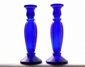 19 best vintage glass candle holders images on pinterest With kitchen colors with white cabinets with cobalt blue glass candle holders