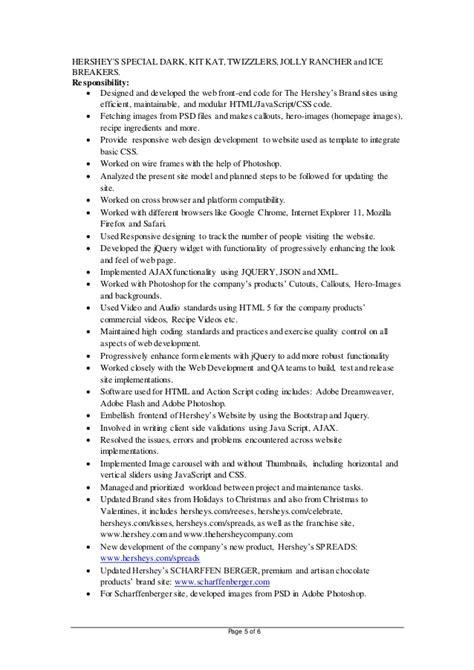 Hadoop Developer Resume For Experienced by Renuga Veeraragavan Resume Hadoop
