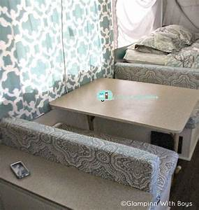 Ramie39s pop up camper makeover the pop up princess for Recover rv furniture