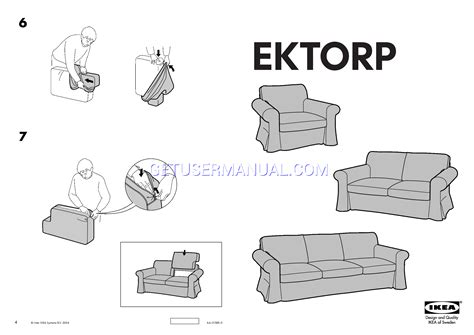 ikea chairs ektorp loveseat cover assembly instruction