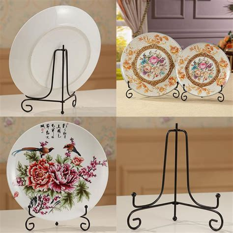 iron display stand dish rack plate bowl picture frame photo book pedestal holder