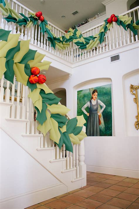 giant hollyberry diy oversized and berry garland the house that lars built