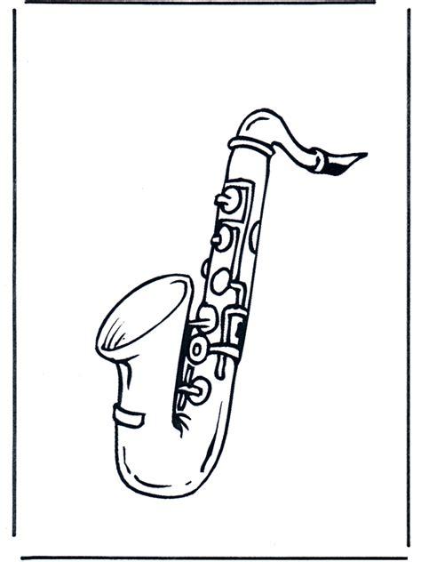 saxophone coloriages musique
