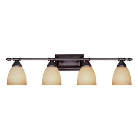Rubbed Bronze Bathroom Light by Bathroom Light With Glass In Rubbed Bronze