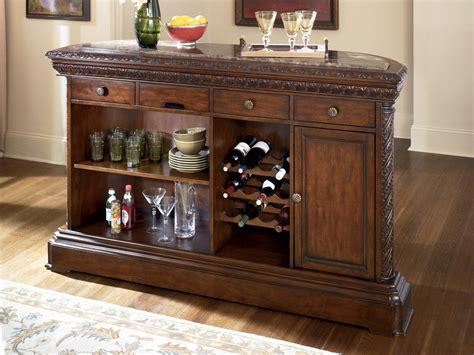 Buy North Shore Home Bar with Marble Top by Millennium ...