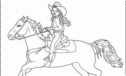 Coloring Cowgirl Horse Pages Cowgirls Cowboy Printable