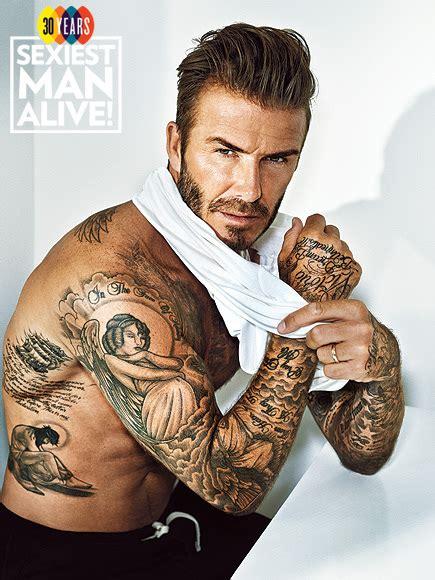 David Beckham Sexiest Man Alive 2015 Tattoo Photos