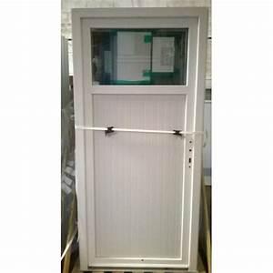 porte de service pvc blanche avec occulus bric mat With porte de garage enroulable avec porte de service pvc occasion