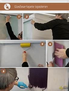 Raufaser Zum Streichen : glasfasertapete tapezieren und streichen anleitung ~ Lizthompson.info Haus und Dekorationen