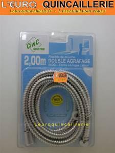 Flexible De Douche : flexible de douche inox double agrafage tuyau 2 m tres ~ Premium-room.com Idées de Décoration