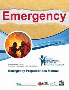 Special Needs Emergency Preparedness Manual  U2013 Az Dept  Of