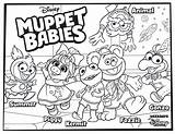 Muppet Coloring Babies Pages Disney Printable Print Muppets Baby Princess Colouring Sheets Fun Sheet Animal Gonzo Adults Printables Some Coloringonly sketch template