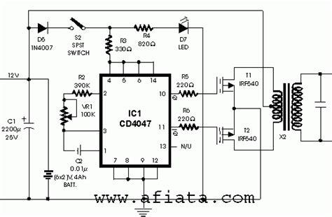 inverter circuit  cd   va   circuit diagram electronic schematics