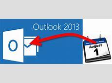 Feiertage automatisch im Kalender von Outlook 2013