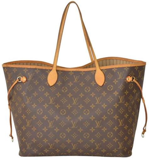louis vuitton monogram neverfull gm large size  brown tote bag  sale   totes