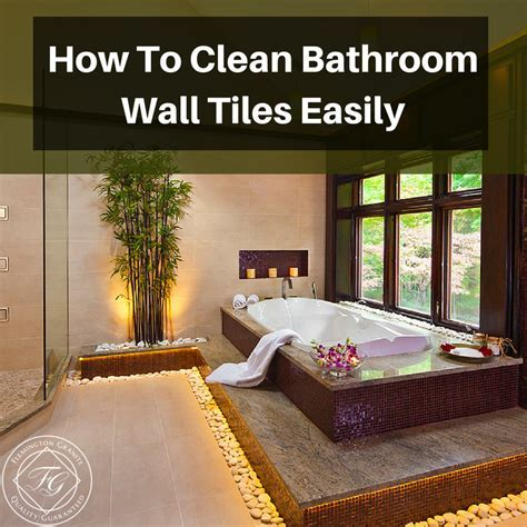 How To Clean Bathroom Wall Tiles Easily   Flemington Granite