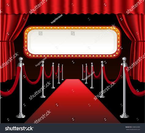 Red Carpet Movie Premiere Elegant Event Stock Vector