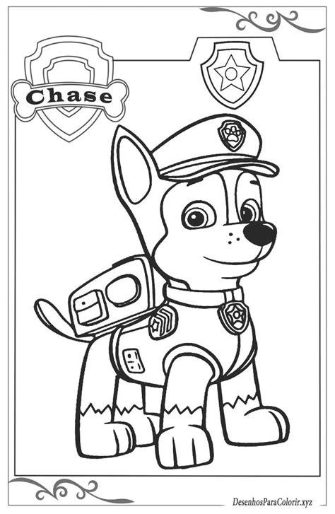 patrulha canina desenhos para imprimir e colorir