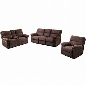 Living Room Sets 3pc  Recliner Set Soft Stretch Skid