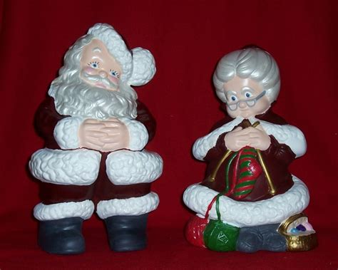 mr and mrs santa claus ceramic bisque i made a few sets