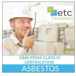 ahera asbestos operations maintenance om osha class