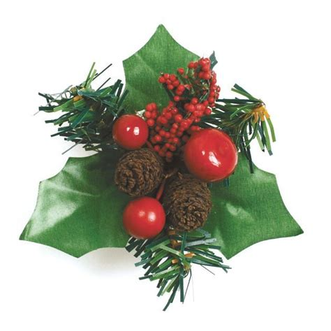 culpitt decoration christmas holly berries fir cone