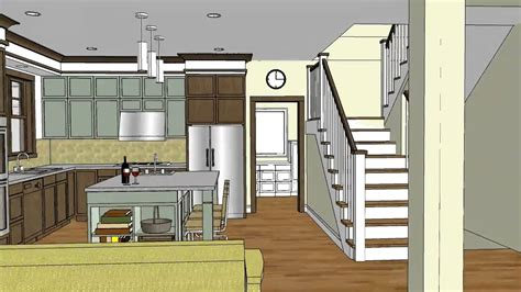 unique craftsman home design  open floor plan