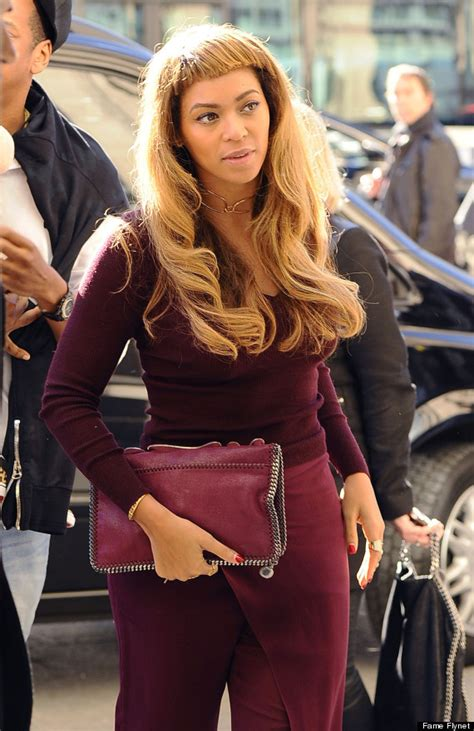 How Do You Say She Has Black Hair In by Beyonce Debuts New Hairstyle And Bangs