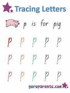 Number Chart 1 20 With Words Letter P Worksheets Guruparents