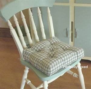 Green Gingham Seat Pads At Wwwperfectlyboxedcom