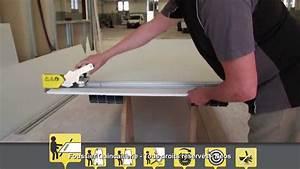 Couper Rail Placo : neos coupe placo avec rail de guidage youtube ~ Melissatoandfro.com Idées de Décoration