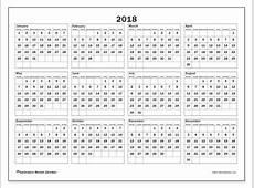 2018 Calendars MS Michel Zbinden EN