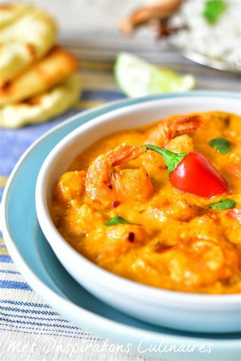 cuisiner gambas crues crevettes au curry au lait de coco le cuisine de samar