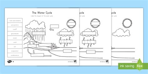 the water cycle differentiated worksheet worksheets water cycle earth s