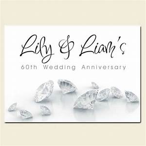 60th wedding anniversary invitations diamonds With what to give for 60th wedding anniversary