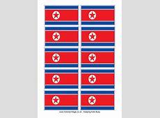 North Korea Flag Printable