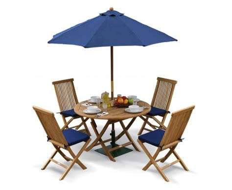 suffolk folding garden table and chairs set