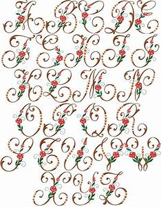 186 best iniziali images on pinterest embroidery for Embroidered alphabet letters