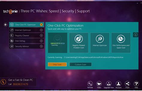 best free optimizer techgenie free pc optimizer 1 0 free