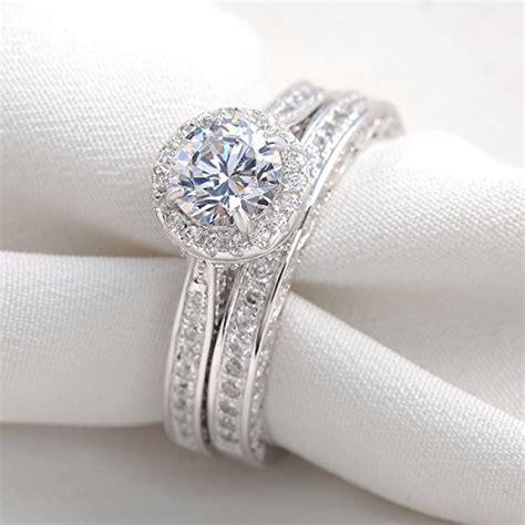 newshe jewellery alice 2 four carat round white cz 925 s