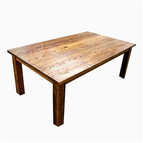 buy  custom wormy chestnut thick plank farmhouse dining