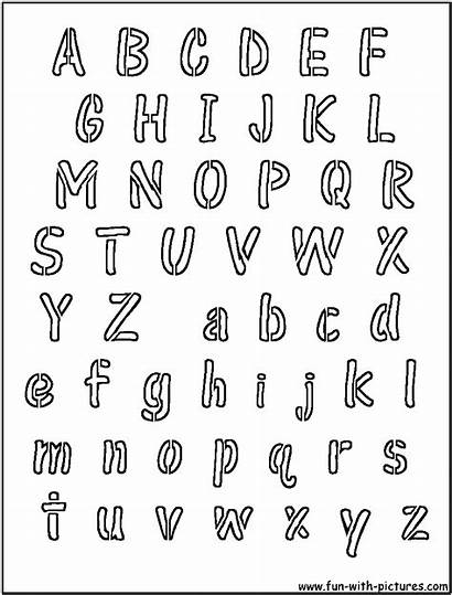 Alphabet Font Stencils Stencil Coloring Disney Printable