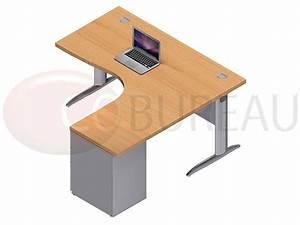 Bureau Compact 160 Cm Pro Mtal Avec Caisson Mtallique