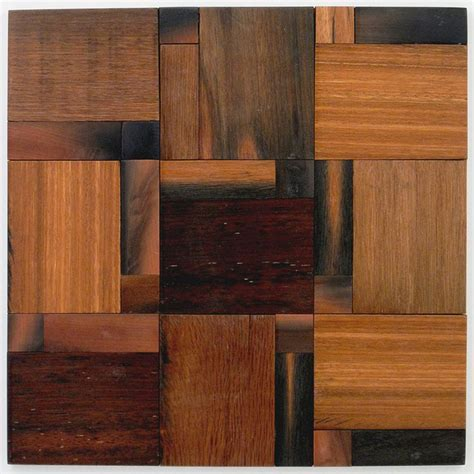 wooden kitchen flooring avenue mosaic 4 quot x 4 quot wood mosaic tile in teak remodel 1169