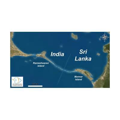 Small islands of Sri Lanka: NW-67. Adam's Bridge (a chain