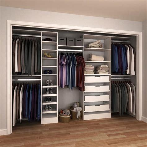 Small Kitchen Pantry Organization Ideas - modifi 84 in h x 90 in to 180 in w x 15 in d white melamine reach in closet kit enri90 180