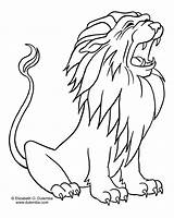 Lion Coloring Pages Animals sketch template